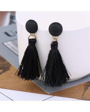 Tassel Drop Earrings 1pair