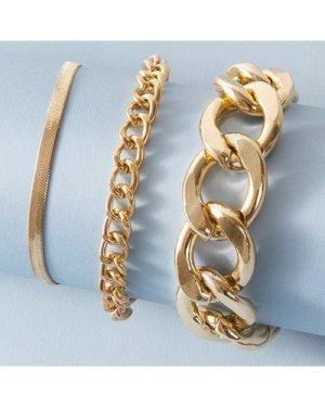 3pcs Chain Bracelet Set