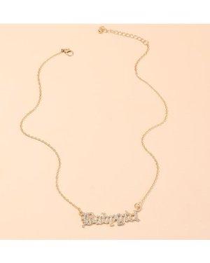 1pc Rhinestone Letter Chain Necklace