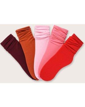 5pairs Plain Slouchy Socks