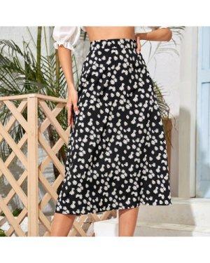 Allover Floral Print Skirt