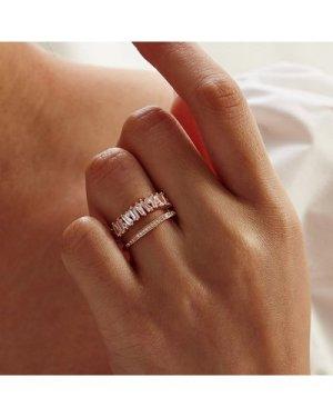 Rhinestone Decor Cuff Ring 1pc