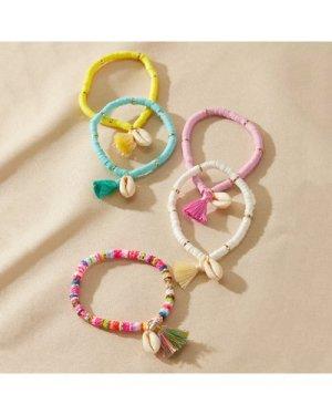 5pcs Shell Charm Bracelet