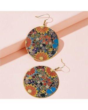 Flower Drop Earrings 1pair