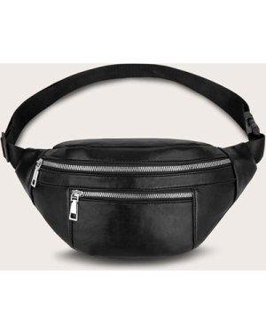 Minimalist Double Zipper Fanny Pack