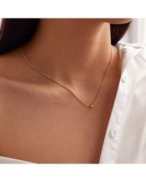 1pc Bead Decor Necklace