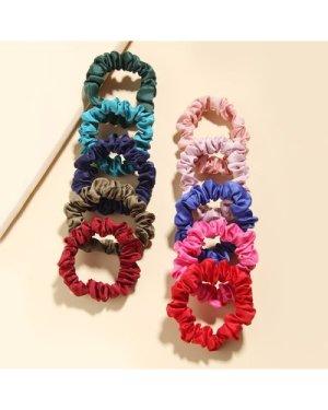 10pcs Simple Solid Scrunchie