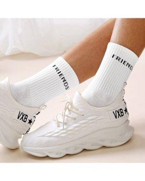 Letter Pattern Socks 1pair