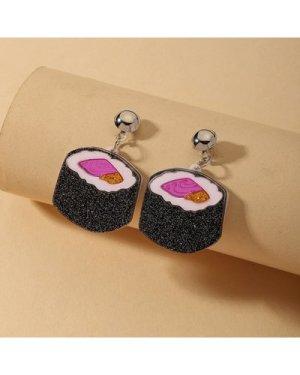 Sushi Shaped Drop Earrings