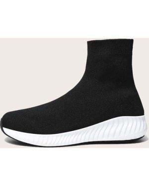 Minimalist High Top Sock Sneakers