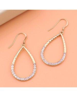 Rhinestone Decor Waterdrop Drop Earrings