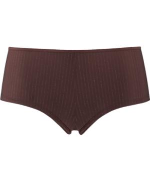 dame de paris 12 cm brazilian shorts |  brown with golden lurex - L