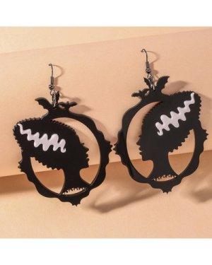 Figure Decor Drop Earrings