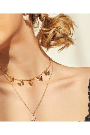 3pcs Butterfly Charm Jewelry Set