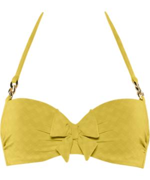 sunglow plunge balcony bikini top   wired padded royal yellow - 38C