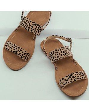Cheetah Print Open Toe Slingback Sandals