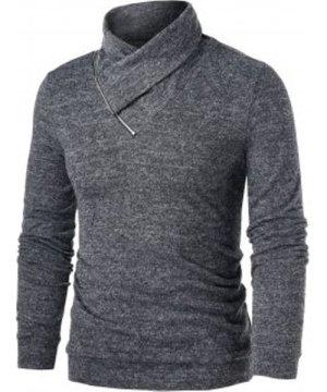 Quarter Zip Heathered Pullover Sweater
