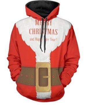 Santa Suit Christmas Pullover Hoodie