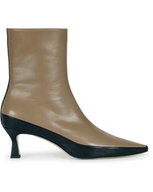 Bente Ankle Boot Khaki / Black