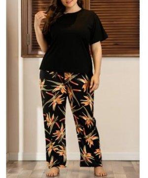 Floral Plus Size PJ Set
