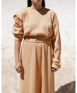 Shaw Long Sleeve Kaftan - Fleece Rib