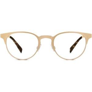 Hudson Eyeglasses in Warm Gold Non-Rx