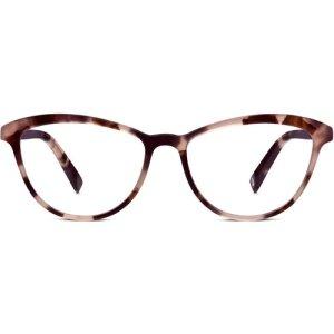 Louise Extra Narrow eyeglasses in Blush Tortoise (Non-Rx)