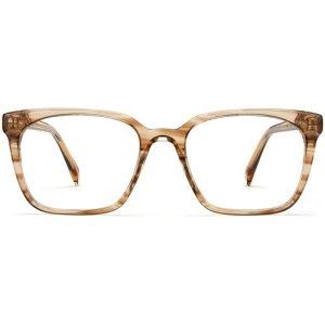 Hughes Narrow eyeglasses in chestnut crystal Non-Rx