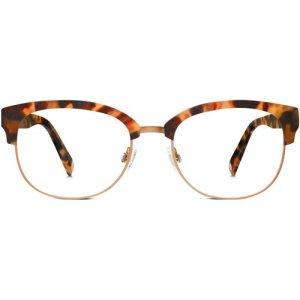 Eliot Eyeglasses in Honey Tortoise Non-Rx