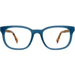 Becker Eyeglasses in Indigo Crystal with English Oak temples Non-Rx