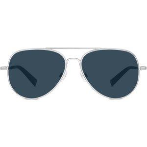 Raider Narrow sunglasses in Polished Silver (Non-Rx)
