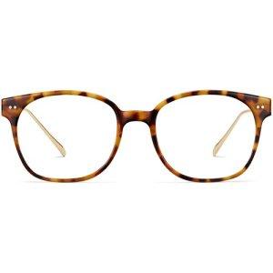 Tilden eyeglasses in Acorn Tortoise with Gold (Non-Rx)