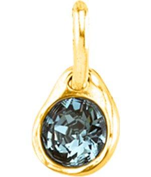 """sapphire gold"" charm"