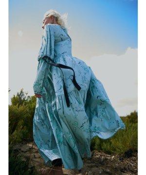 Organic Cotton EIDOTHEA DRESS. Old Neptune Print. by Klements