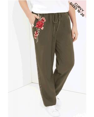 Girls On Film Curvy Khaki Trousers size: 22 UK, colour: Khaki