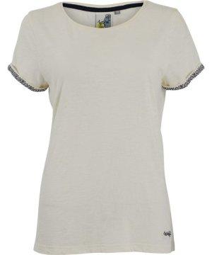 Weird Fish Trinity Cotton Short Sleeve T-Shirt Light Cream Size 20