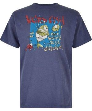 Weird Fish Not Weird Artist T-Shirt Blue Indigo Size 2XL