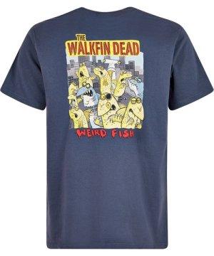 Weird Fish Walkfin Dead Artist T-Shirt Navy Size S