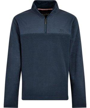 Weird Fish Rothay 1/4 Zip Fleece Sweatshirt Navy Size S