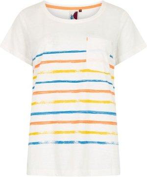 Weird Fish Faith Striped T-Shirt Light Cream Size 8