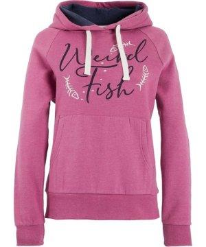 Weird Fish Anya Branded Popover Hooded Sweatshirt Magenta Size 8