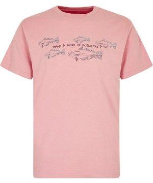 Weird Fish Pollock Organic Cotton Graphic T-Shirt Desert Rose Size 4XL