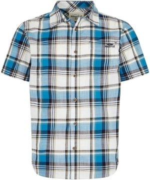 Weird Fish Modbury Short Sleeve Checkered Shirt Blue Wash Size 2XL