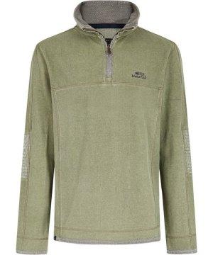 Weird Fish Kendall 1/4 Zip Pique Sweatshirt Safari Size 3XL