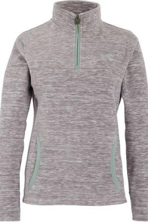 Weird Fish Nancy 1/4 Zip Melange Fleece Sweatshirt Ash Grey Size 20