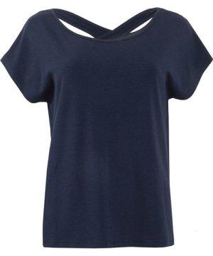 Weird Fish Athena Bamboo T-Shirt Navy Size 10
