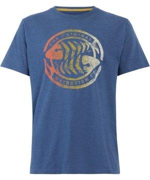 Weird Fish Summer Surf Graphic T-Shirt Ensign Blue Size S