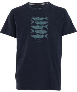 Weird Fish Mullet Over Organic Cotton T-Shirt Navy Size 2XL