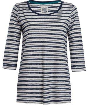 Weird Fish Gillian Striped T-Shirt Ensign Blue Size 16