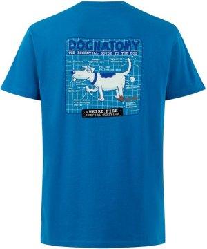 Weird Fish Dognatomy Battersea Artist T-Shirt Storm Blue Size M